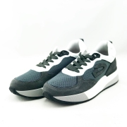 Cuardiani ανδρικό δερμάτινο sneakers σε γκρί χρώμα με κορδόνι